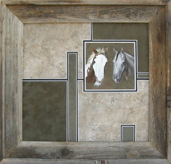 Painting - Ashley's Horses Framed by Lori Brackett