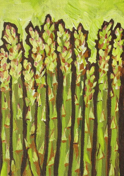 Yummy Painting - Asparagus by Sandy Tracey