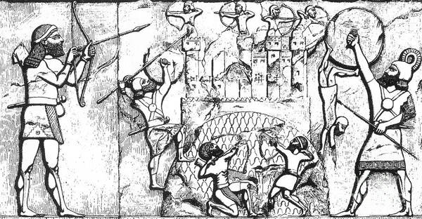 Photograph - Assyrian Archers Attack Ekron 712 Bc by Photo Researchers
