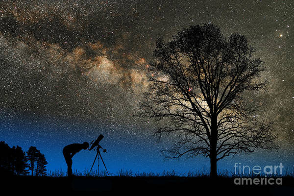 Photograph - Astronomy by Larry Landolfi and Photo Researchers