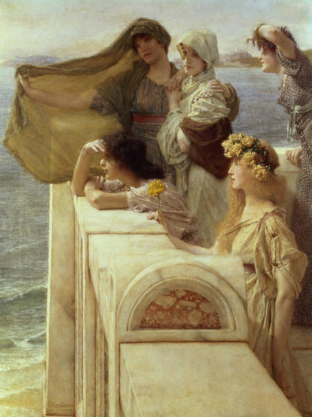 Cyprus Wall Art - Painting - At Aphrodite's Cradle by Sir Lawrence Alma-Tadema