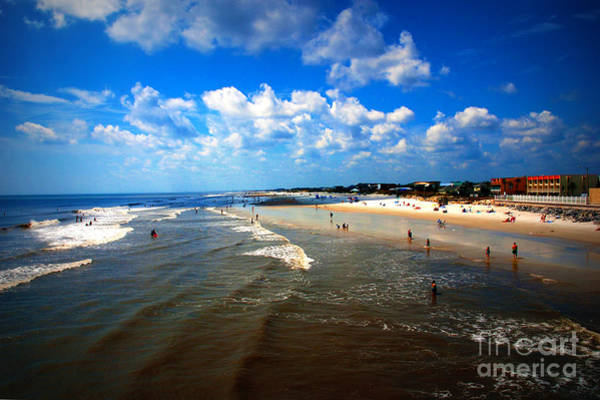 Photograph - At Folly Beach In Sc by Susanne Van Hulst