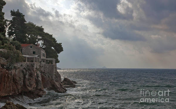 Houses Wall Art - Photograph - At The Edge Of The Sea In Dubrovnik by Madeline Ellis