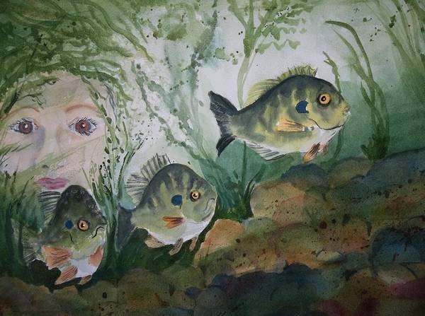 Painting - At The Fish Hatchery by Audrey Bunchkowski