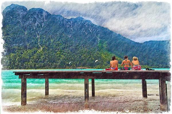 Sunbather Wall Art - Photograph - At The Lake by Debra and Dave Vanderlaan