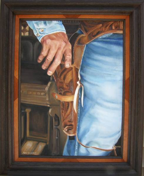 Painting - At The Ready Framed by Lori Brackett