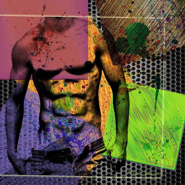 Bodybuilder Digital Art - At The Right Mood by Mark Ashkenazi