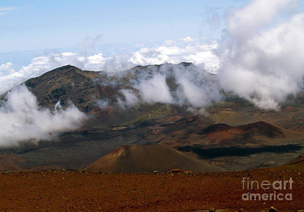 At The Rim Of The Crater Art Print