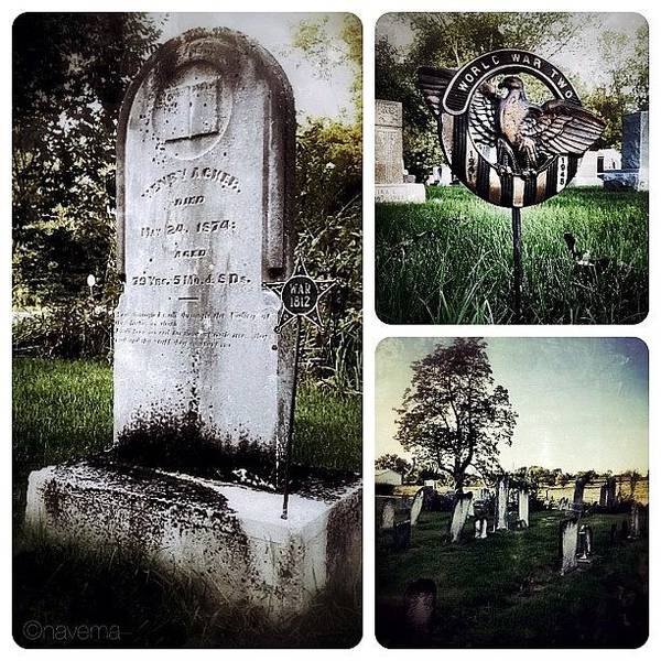 Ohio Wall Art - Photograph - At This Small Rural Cemetery In by Natasha Marco