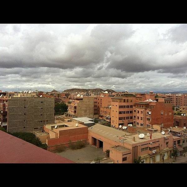 Wall Art - Photograph - At Top Of Hotel Looking Over Marrakech by Rachel Ayres