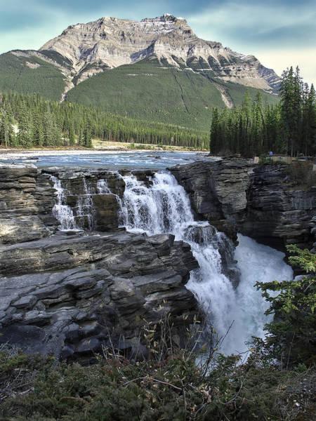 Wall Art - Photograph - Athabasca Falls In Jasper National Park - Alberta Canada by Daniel Hagerman
