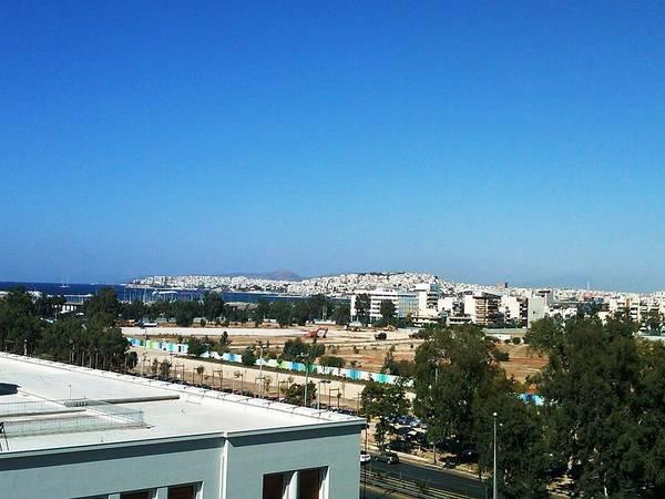 Photograph - Athens Bay View II Aegean Sea Mediterranean Morning In Greece by John Shiron