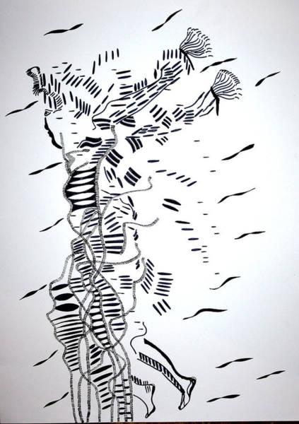 Drawing - Atilogwu Dance - Nigeria by Gloria Ssali