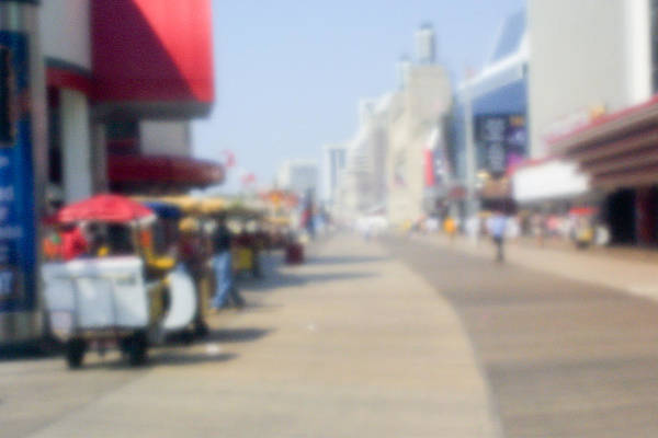 Photograph - Atlantic City Boardwalk Vista by Emery Graham