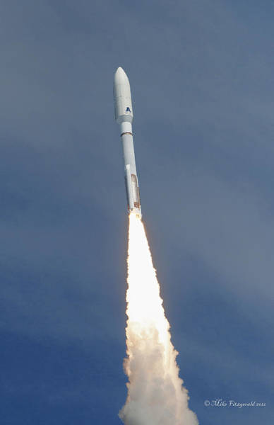 Photograph - Atlas V Flight by Mike Fitzgerald