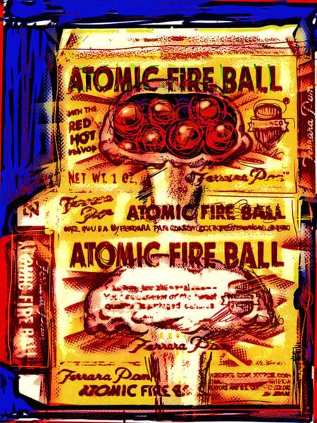 Fire Ball Wall Art - Mixed Media - Atomic Fire Ball by Russell Pierce