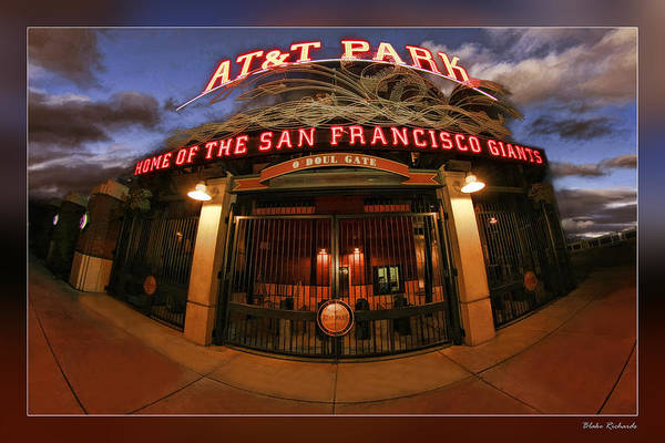 Photograph - Att Park Front Gate by Blake Richards