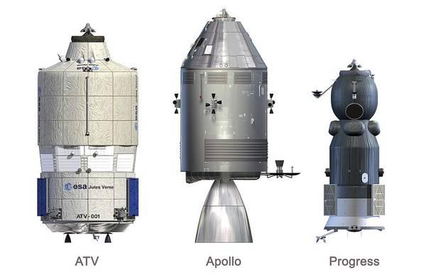 Atv Photograph - Atv, Apollo And Progress Modules by David Ducros