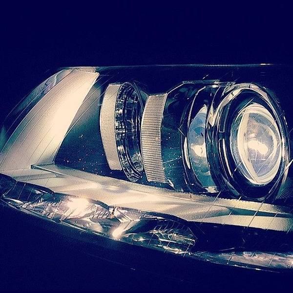 Audi Photograph - #audi #headlights #runninglights #a6 by Joe Trethewey