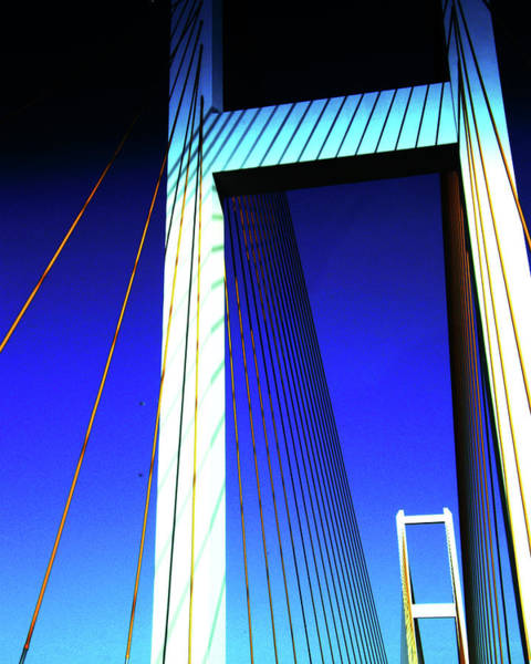 Digital Art - Audubon Bridge 2 by Lizi Beard-Ward