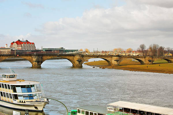 Wall Art - Photograph - Augustus Bridge Dresden Germany by Christine Till