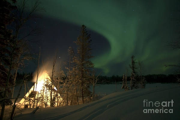 Yellowknife Wall Art - Photograph - Aurora Above Aurora Village, Aurora by Yuichi Takasaka