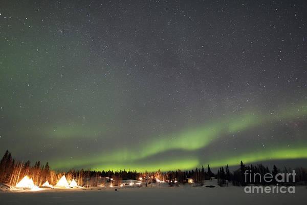 Yellowknife Wall Art - Photograph - Aurora And Milky Way,  Aurora Village by Yuichi Takasaka