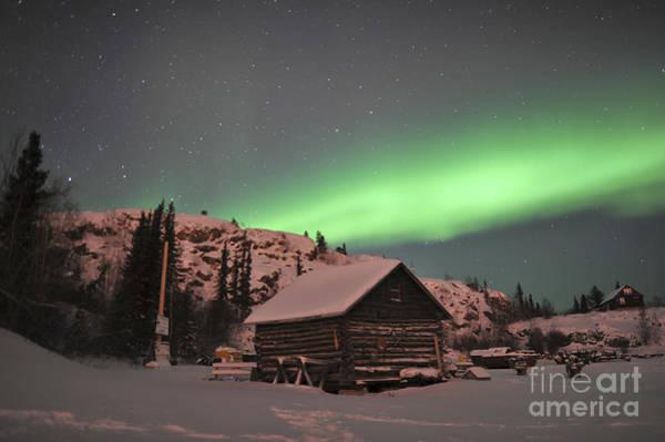 Yellowknife Wall Art - Photograph - Aurora Borealis Over A Cabin, Northwest by Jiri Hermann