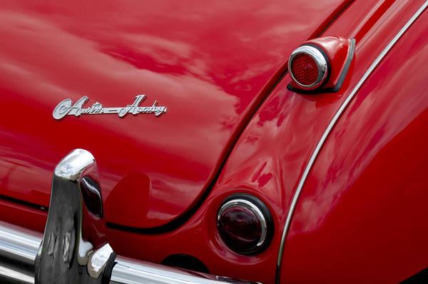 Photograph - Austin-healey Tail Light And Emblem by Jill Reger