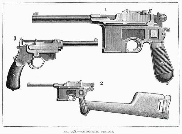 Photograph - Automatic Pistols by Granger