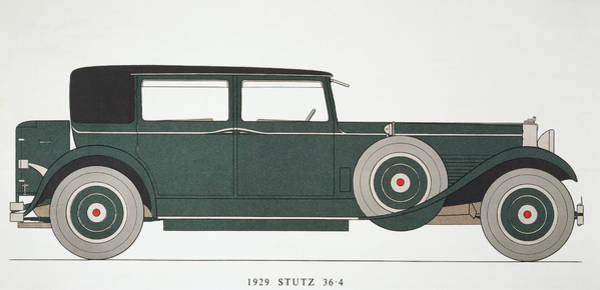 Photograph - Automobile: Stutz, 1929 by Granger