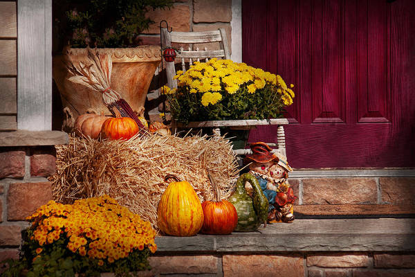 Photograph - Autumn - Gourd - Autumn Preparations by Mike Savad