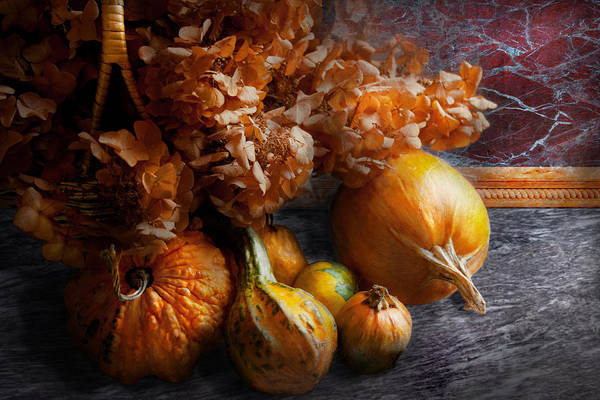 Photograph - Autumn - Gourd - Still Life With Gourds by Mike Savad
