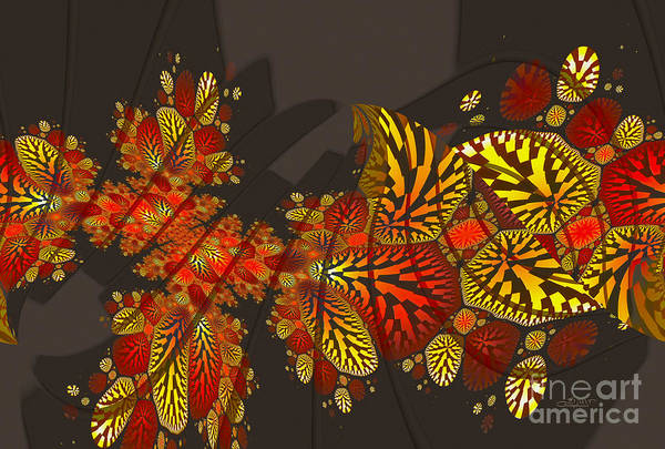 Digital Art - Autumn Abstract by Jutta Maria Pusl