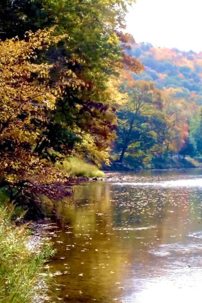 Clarion Photograph - Autumn At The River's Edge by Darlene Bell