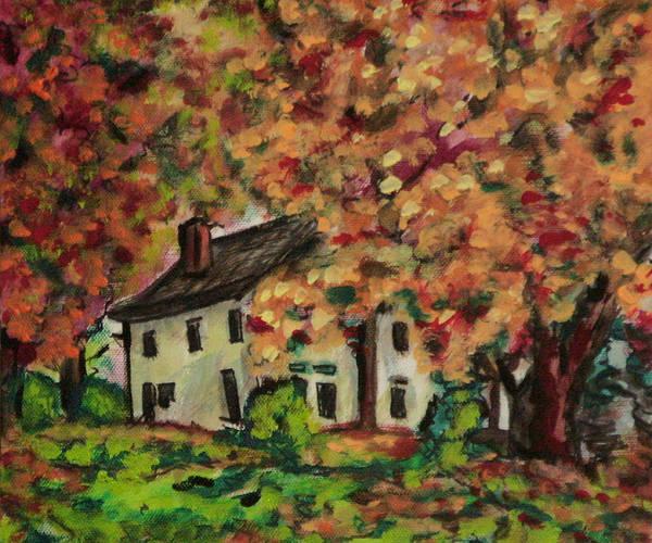 Wall Art - Painting - Autumn Farmhouse Var 2 by Laura Heggestad