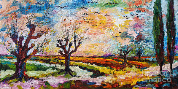 Painting - Autumn Migration Landscape  by Ginette Callaway