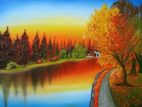 Wall Art - Painting - Autumn Over Drake Park 1 by Dunbar's Modern Art