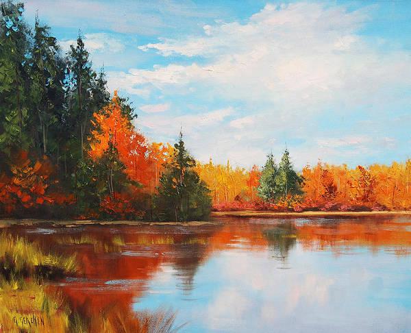 Gercken Painting - Autumn Reflections by Graham Gercken