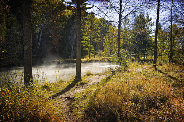 Manistee River Wall Art - Photograph - Autumn Scene Of The Little Manistee River In Michigan No. 0856 by Randall Nyhof