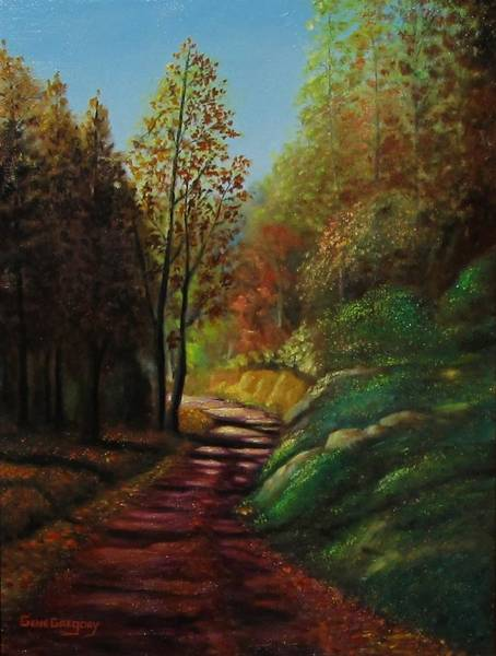 Painting - Autumn Trail by Gene Gregory
