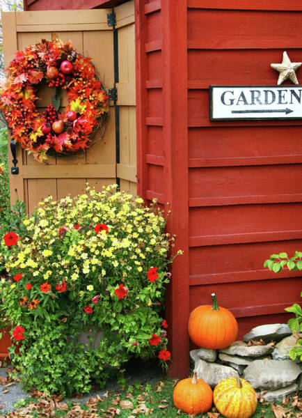 Wall Art - Photograph - Autumn Wreath  by Sandra Cunningham