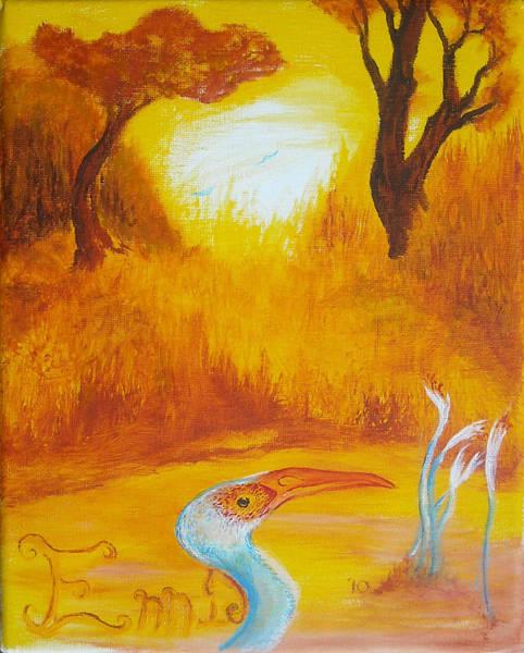 Autumnul Mother Evening Art Print