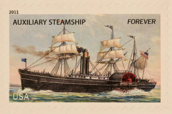 Wall Art - Photograph - Auxiliary Steamship Stamp by Heidi Smith