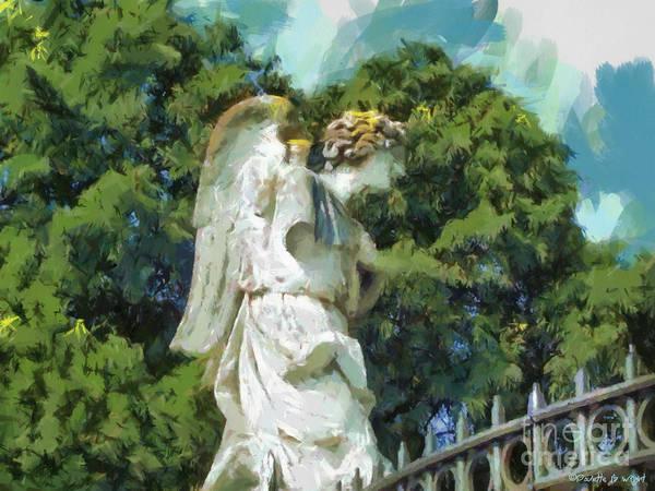 Photograph - Avignon Angel by Paulette B Wright