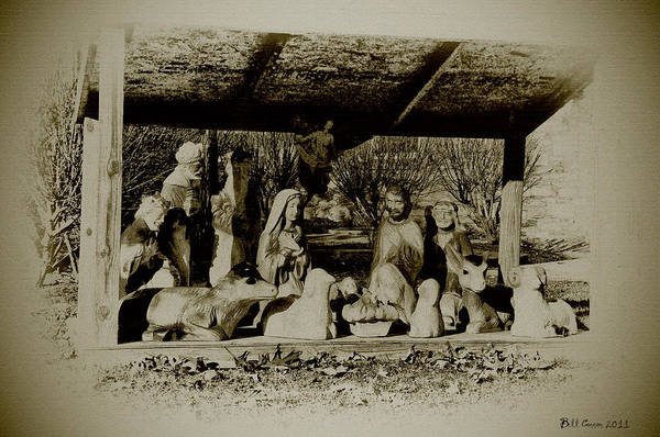 Manger Photograph - Away In The Manger by Bill Cannon