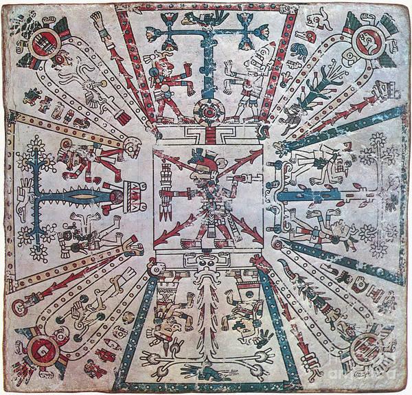 Photograph - Aztec World Regions by Granger