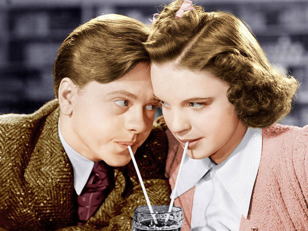 Soda Straws Photograph - Babes In Arms, From Left Mickey Rooney by Everett