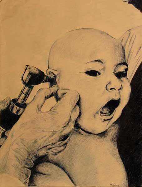 Colored Pencils Mixed Media - Babies Checkup by Tim Foley