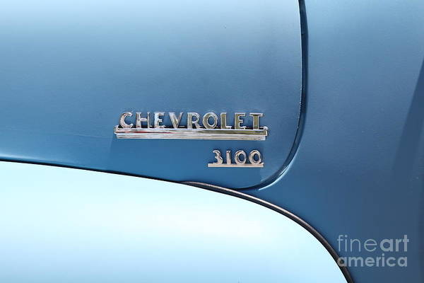 Photograph - Baby Blue 1951 Chevrolet 3100 Truck . 5d16568 by Wingsdomain Art and Photography